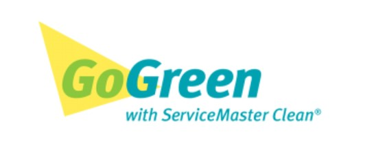 Logo: Go Green with ServiceMaster Clean